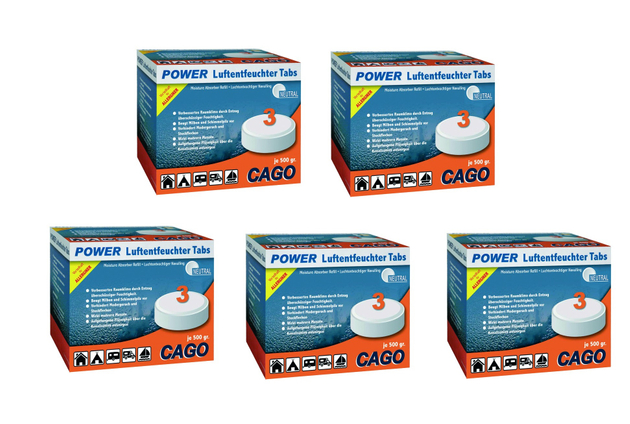 CAGO Power Luftentfeuchter Tabs (15 Tabs)