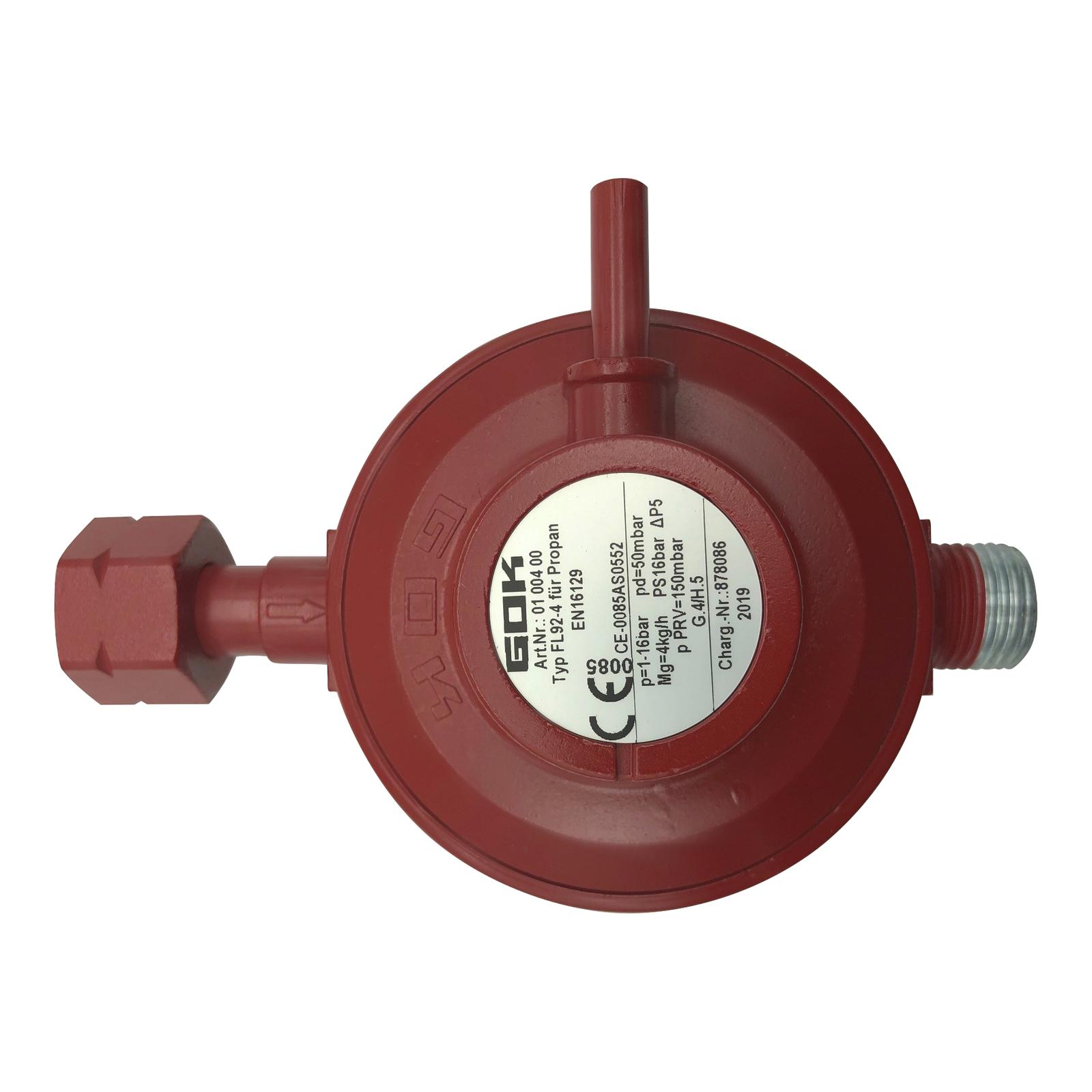 GOK 25-50 mbar verstellbar Gasregler Druckminderer Niederdruckregler 30 Gas