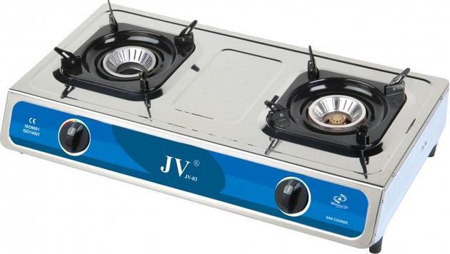 CAGO JV 03 Gaskocher 2-flammig aus Edelstahl 9,0 kW