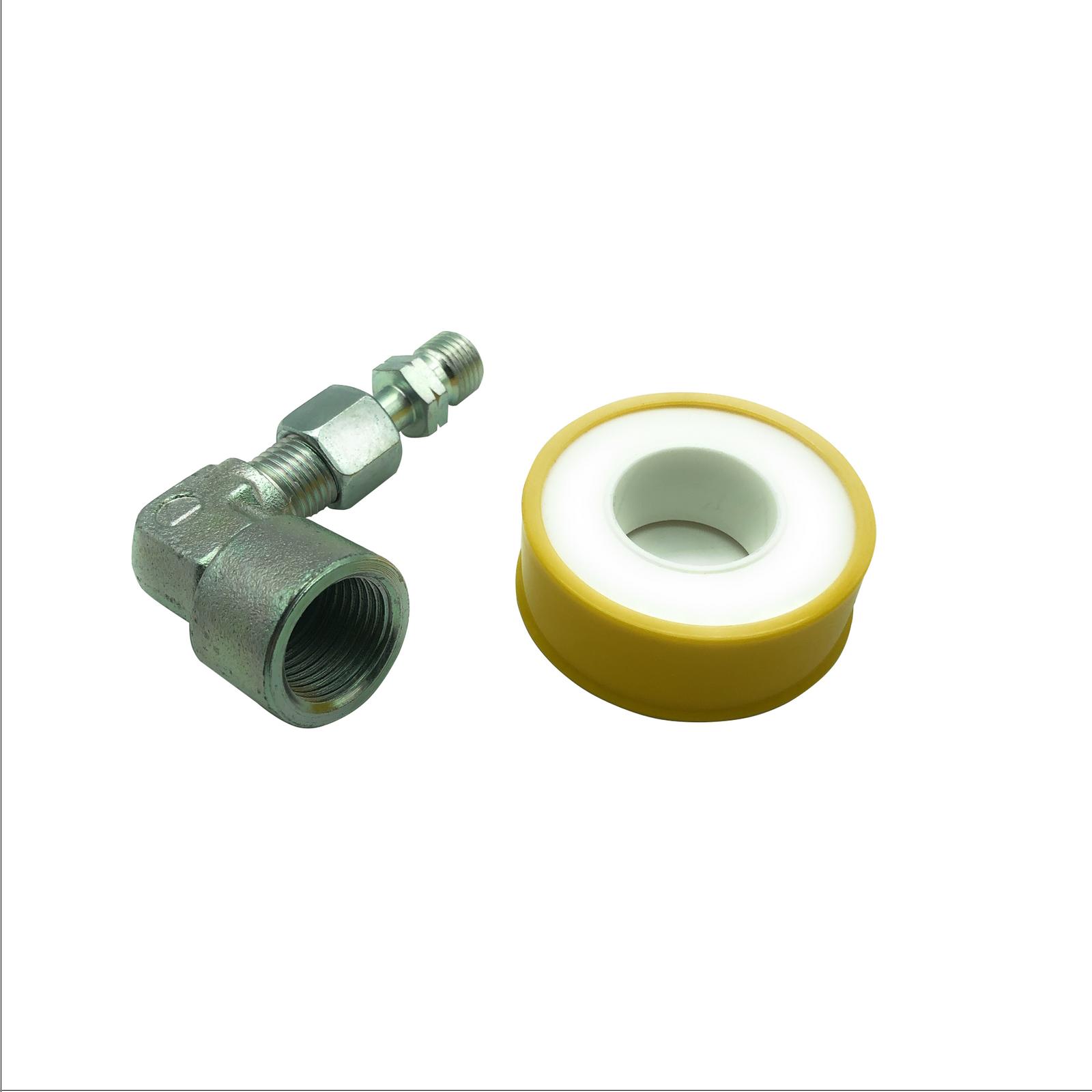 Gasherd an Propan Flasche anschließen Herdanschluss Adapter Set 1//2/'/' auf 1//4/'/'