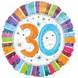RIETHMÜLLER Folienballon 18 Zoll Birthday 30th 001
