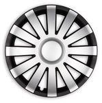 4x PREMIUM Radkappen Modell: Agat LACKIERT Schwarz-Silber