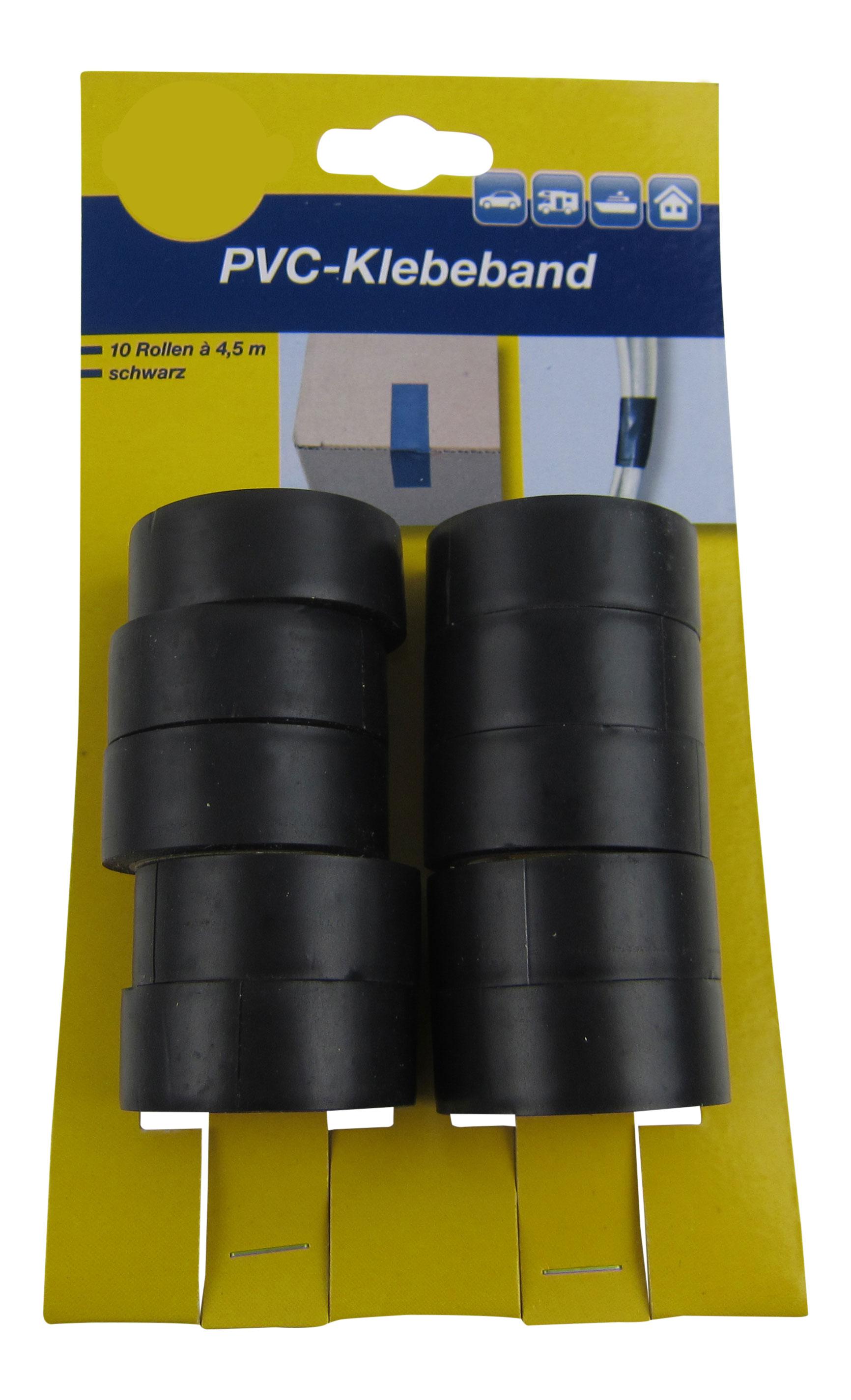 0,11€/m 10x Isolierband Isoband Klebeband Elektriker Band Schwarz Rolle KFZ Home