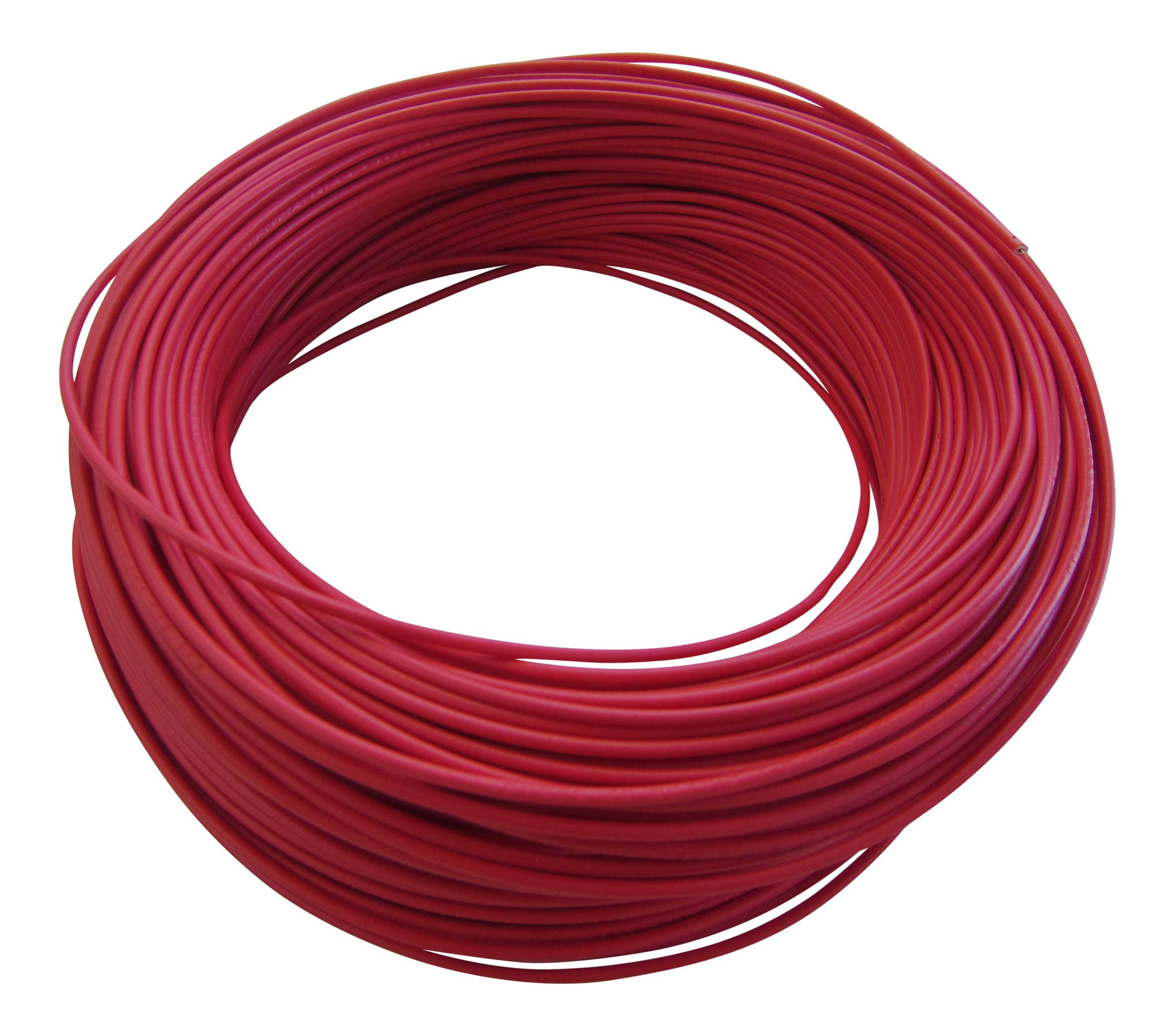 0,29¤/m KFZ LKW Kabel Litze Leitung Flexible FLRy 0,5mm² 20m Rot / M. in Germany