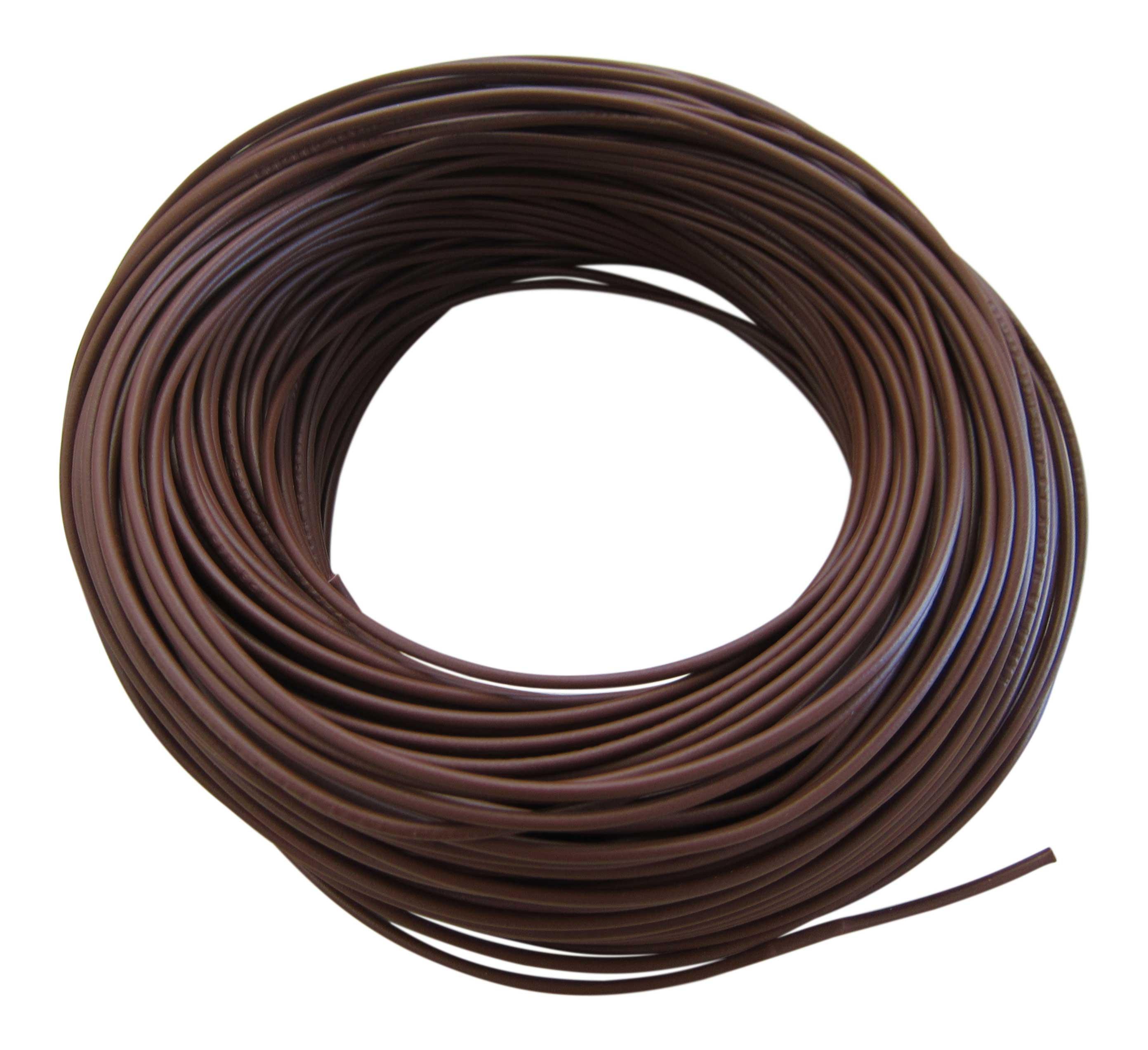 0,31€/m KFZ LKW Kabel Litze Leitung Flexible FLRy 0,75mm² 20m Braun M. i Germany