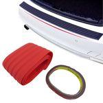 Premium Ladekantenschutz Lack Schutz Leiste Gummi in Rot für viele Fahrzeuge