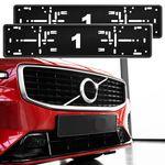 2x Original ALTI GIRI Premium Kennzeichenhalter Rahmen Halter in Grau passend für alle Fahrzeuge