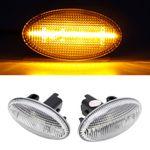 2x LED Seitenblinker Blinker in Silber SET für Citroen JUMPY Xsara C-Crosser C-ELYSEE Picasso