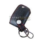 Schlüssel Tasche Schlüsseletui Etui LEDER Rot 3Tasten für Peugeot Citroen