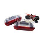 2x LED SMD Türbeleuchtung Innenraumbeleuchtung Rot / Weiß für VW Seat Skoda