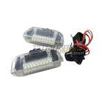 2x LED SMD Türbeleuchtung Innenraumbeleuchtung Weiß / Klar für VW Seat Skoda