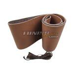 PREMIUM Echt-Leder Lenkrad Bezug Schoner Lederlenkrad 37-39cm zum Schnüren BRAUN