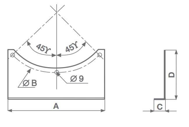 Montagekonsole MPC-SU Vortice
