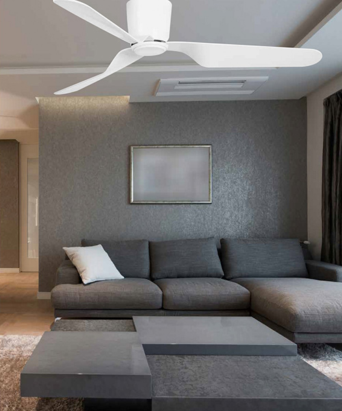 Energy saving ceiling fan Pemba 132 cm 52 inch housing white included remote control by Faro