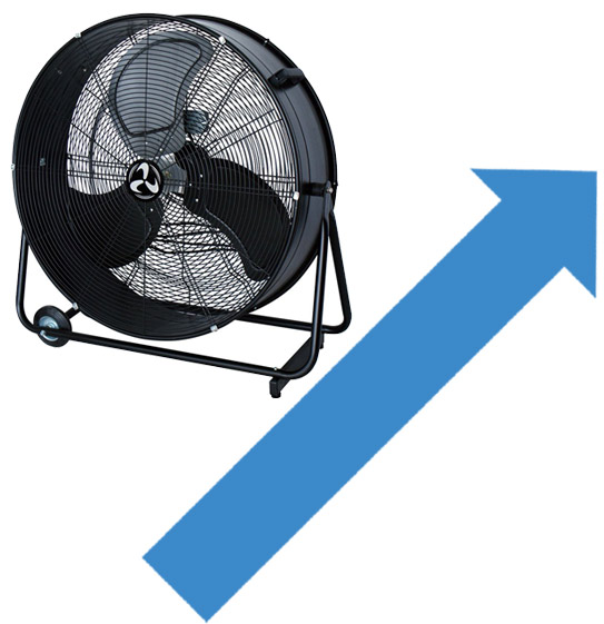 Industrial fans & wind machines for professional environments