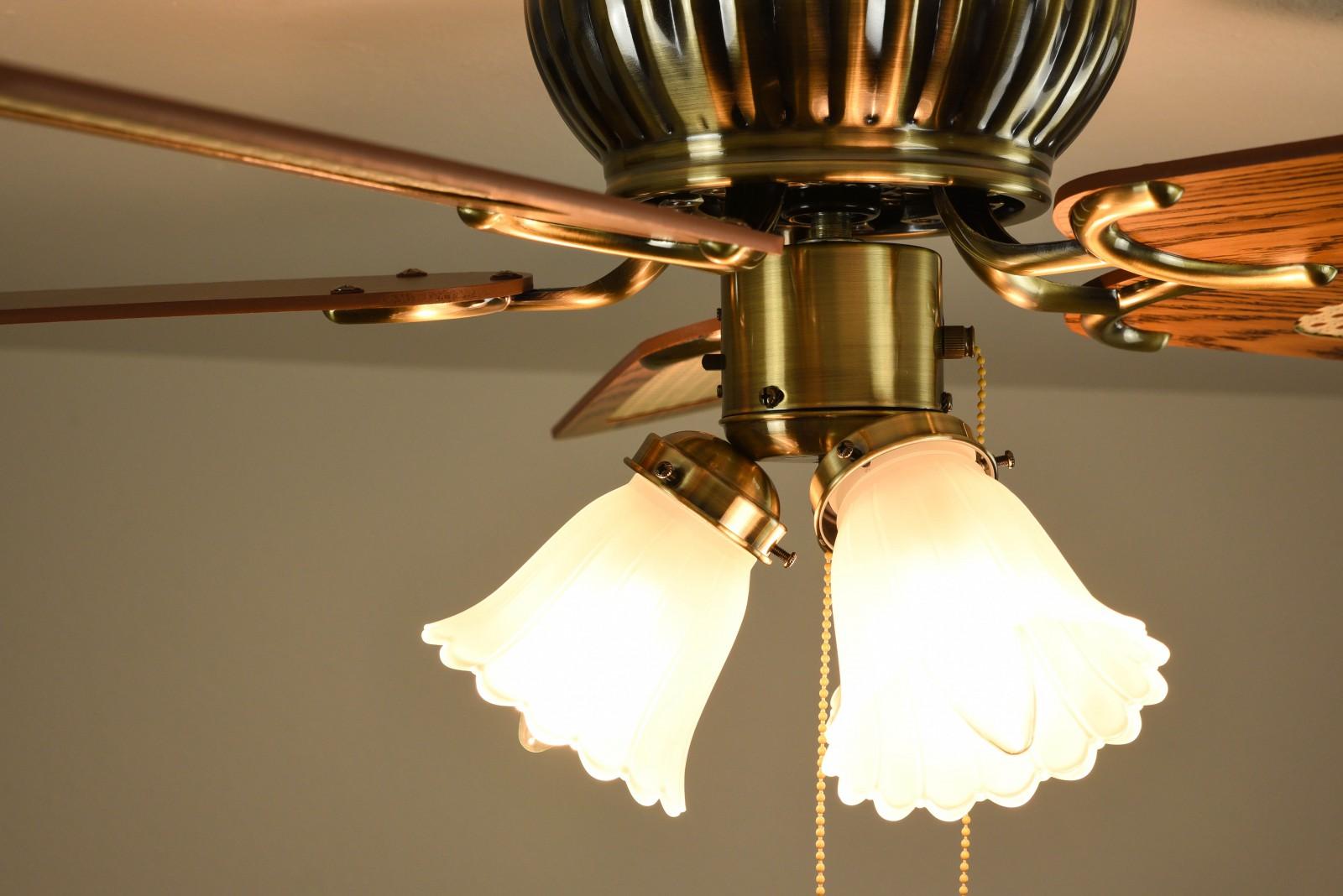 ceiling fan kisa brass antique 105 cm