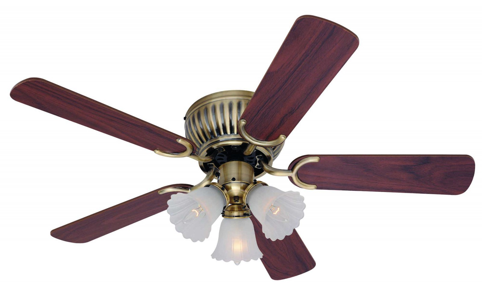 Ceiling Fan Kisa Brass Antique 105 Cm 41 For Low Ceilings