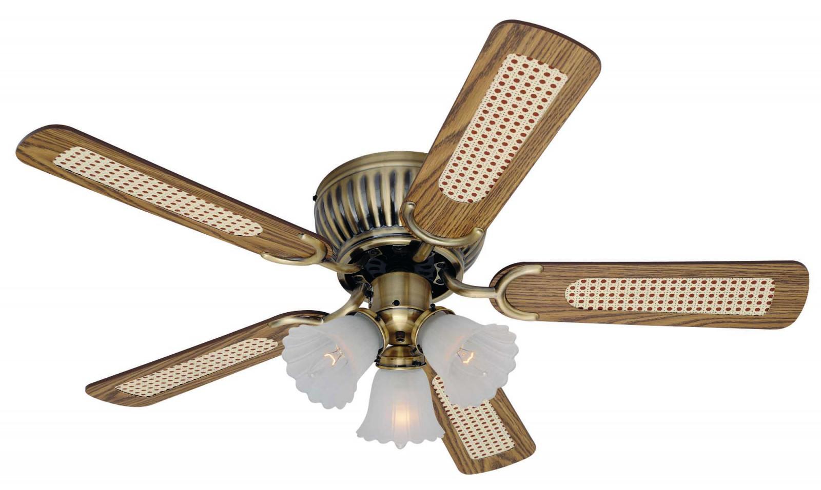 Ceiling fan kisa brass antique 105 cm 41 for low for Ikea ventilatori da soffitto