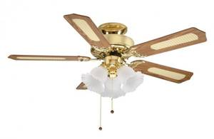 Ceiling Fan Belaire Brass with lighting 107 cm / 42""