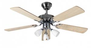 Ceiling Fan Genoa Stainless Steel with light 107 cm / 42""