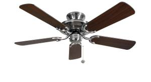 Ceiling Fan Mayfair Steel / Dark Oak 107cm / 42""