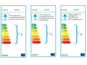 Energiespar Deckenventilator Tau Weiß 127 cm mit Licht – Bild 4