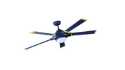 """Ceiling fan Blue-Star with light and remote 135cm / 53"""""""