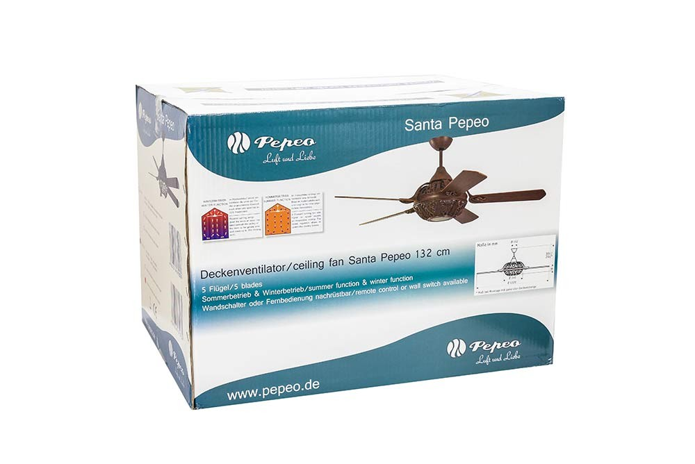 Design Ceiling Fan Santa Pepeo Washed Grey Without Control Ceiling Fans For Domestic And