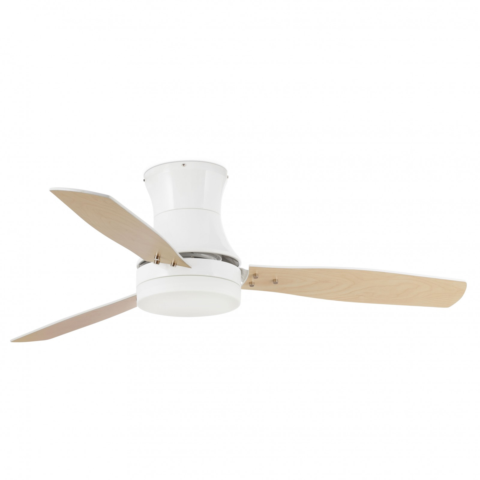 "Faro ceiling fan Tonsay White 132 cm 52"" with light and remote"