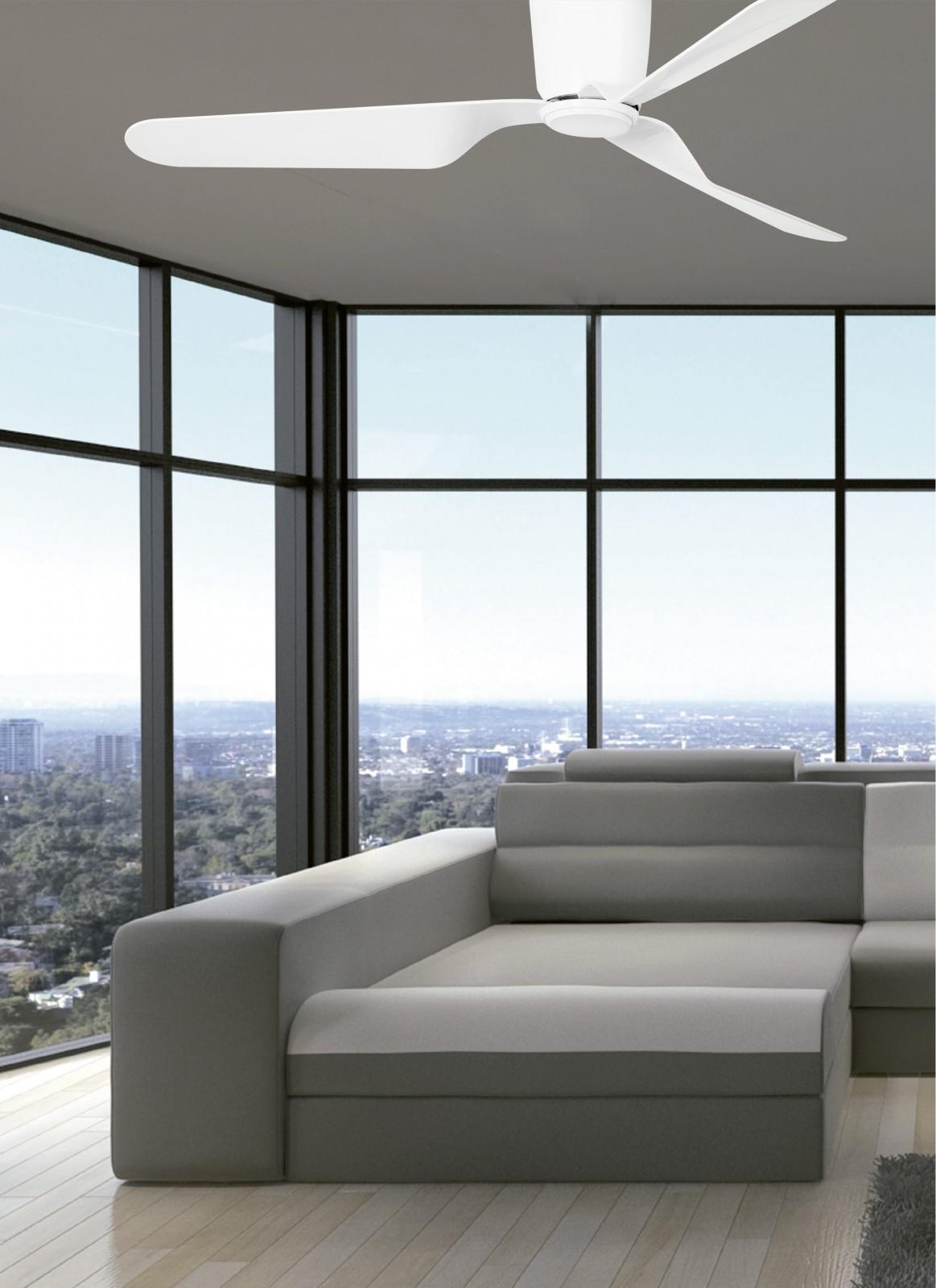 energiespar deckenventilator faro pemba wei 132 cm deckenventilator deckenventilatoren ohne. Black Bedroom Furniture Sets. Home Design Ideas