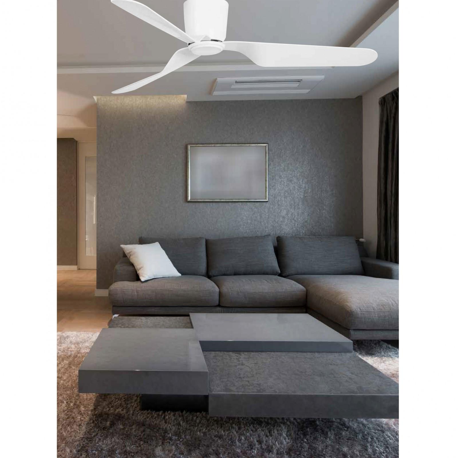 ventilateur de plafond basse consommation pemba blanc ventilateurs de plafond pour particulier. Black Bedroom Furniture Sets. Home Design Ideas