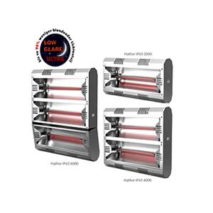Halogen Infrared Heater Hathor IP65 LowGlareUltra