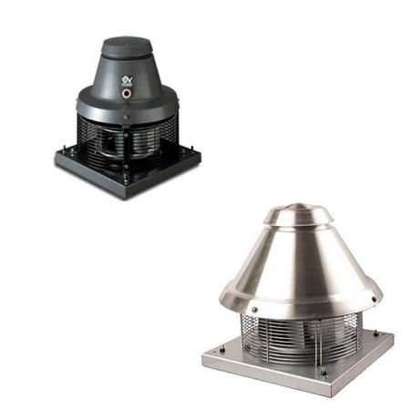 Vortice Roof fan Chimney fan range Camino up to 1200m³/h IP54