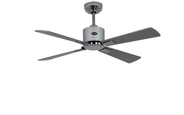 ventilateur de plafond basse consommation eco neo ii 103 cm chrome brillant p les weng gris. Black Bedroom Furniture Sets. Home Design Ideas