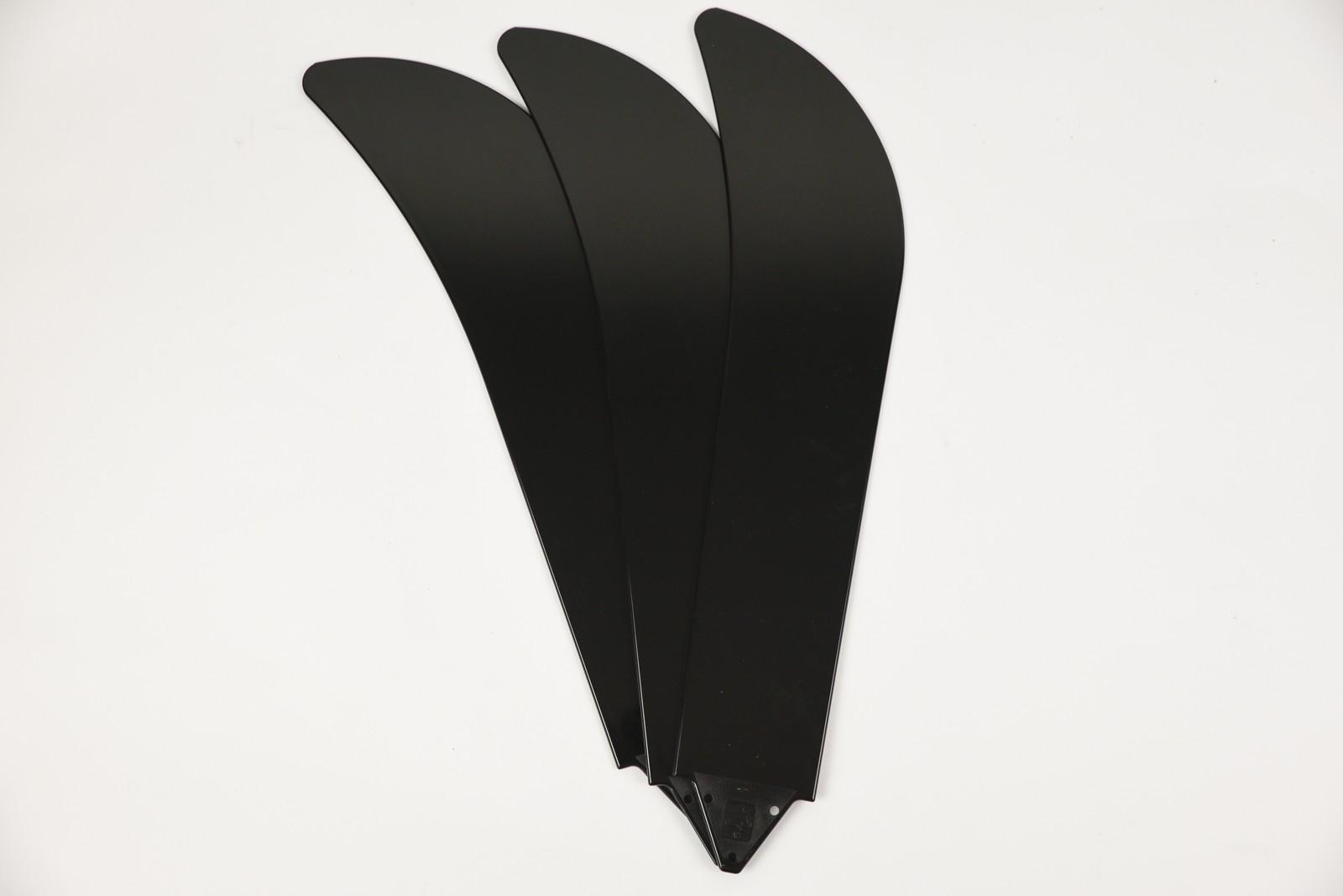 Fransande Lot de 4 cha/înes en bois pour ventilateur de plafond Argent/é et bois
