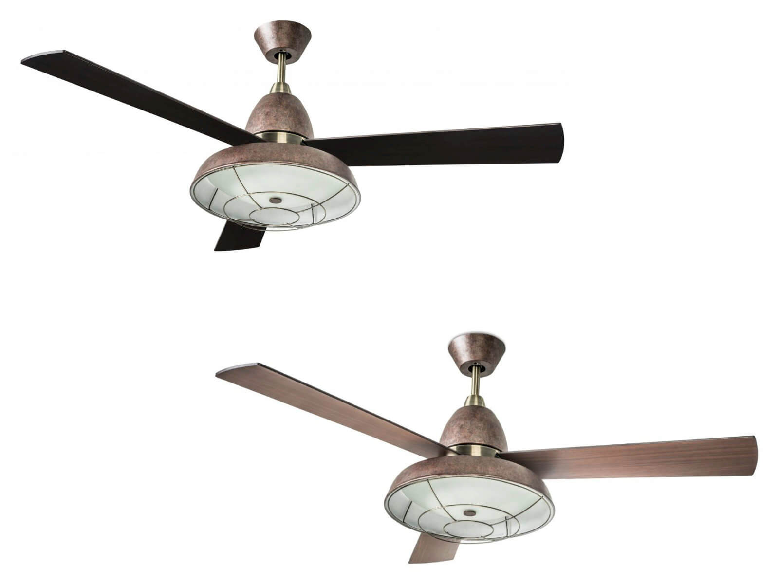 Ceiling Fan Vintage 132cm 52 With Light And Remote Home Commercial Heaters Ventilation Ceiling Fans Uk