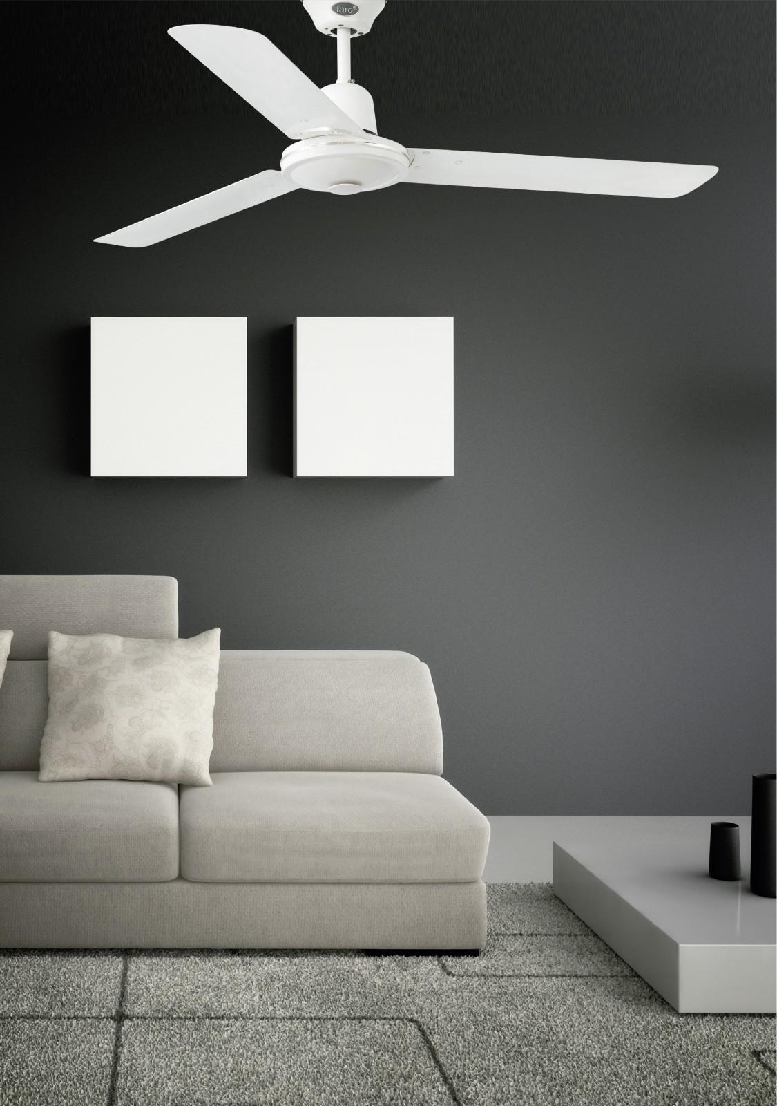 deckenventilator eco indus wei 120 cm mit wandschalter. Black Bedroom Furniture Sets. Home Design Ideas