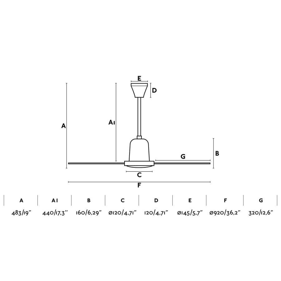 deckenventilator mini indus wei 92 cm mit wandschalter deckenventilator deckenventilatoren ohne. Black Bedroom Furniture Sets. Home Design Ideas