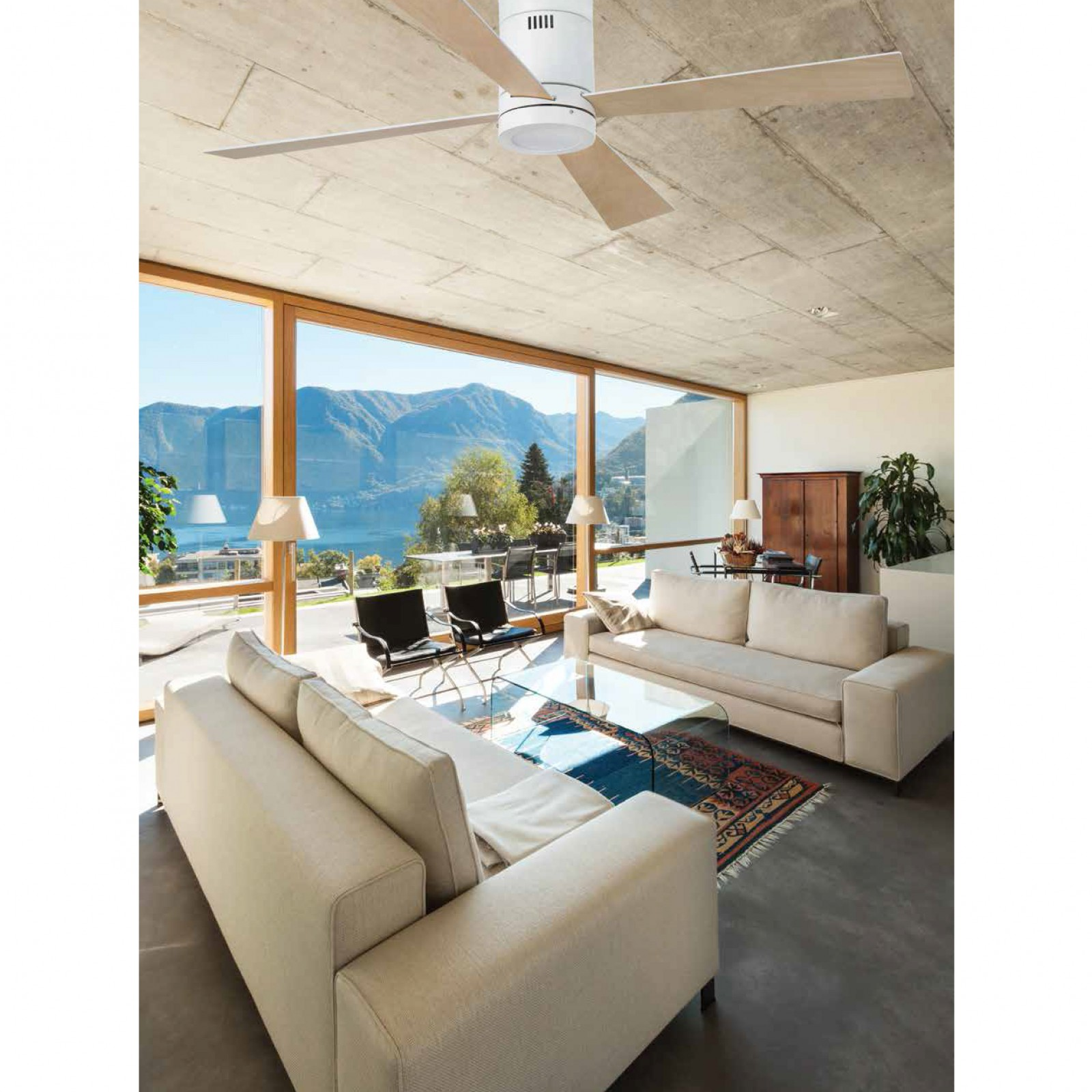 deckenventilator timor wei mit licht und fernbedienung. Black Bedroom Furniture Sets. Home Design Ideas