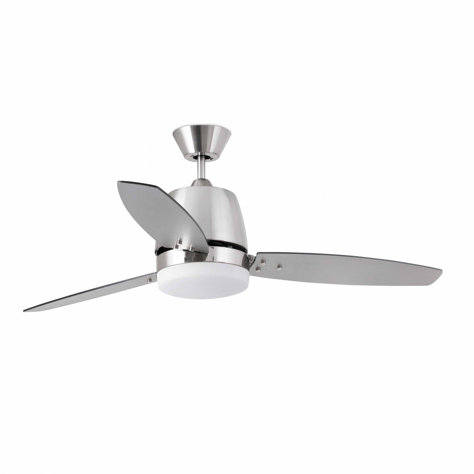 "Faro ceiling fan Malta Nickel matt 132 cm 52"" with light and"