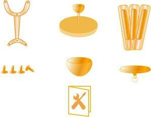 Ersatzteile für Pepeo Deckenventilator 13422010132 Melton Messing