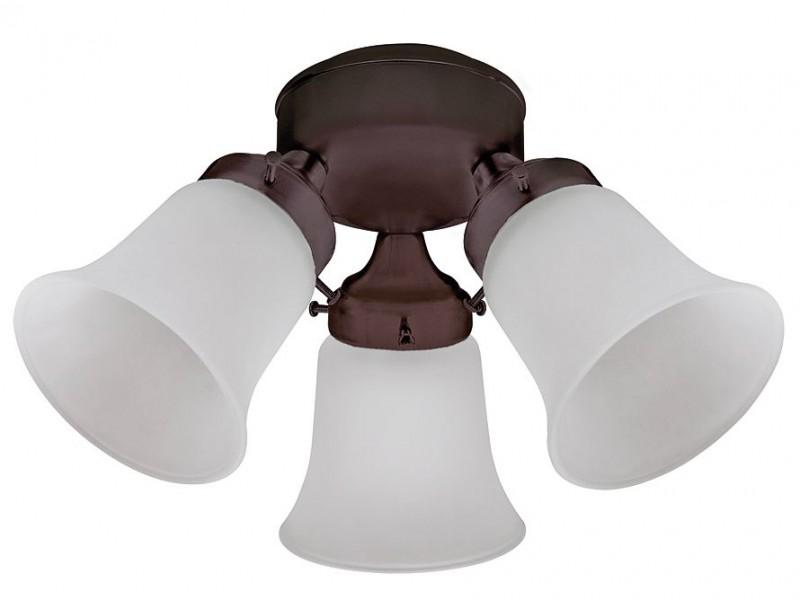 Hunter Ceiling Fan Add On Light Kit 3 Light Flush Mount Home Commercial Heaters Ventilation Ceiling Fans Uk