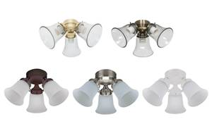 Hunter ceiling fan add-on light kit 3 LIGHT FLUSH MOUNT