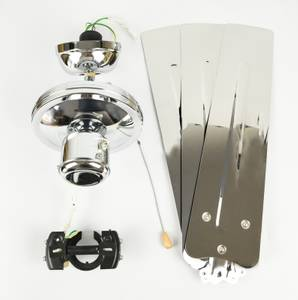 Deckenventilator Zephyr Industrial 122 cm Chrom – Bild 7