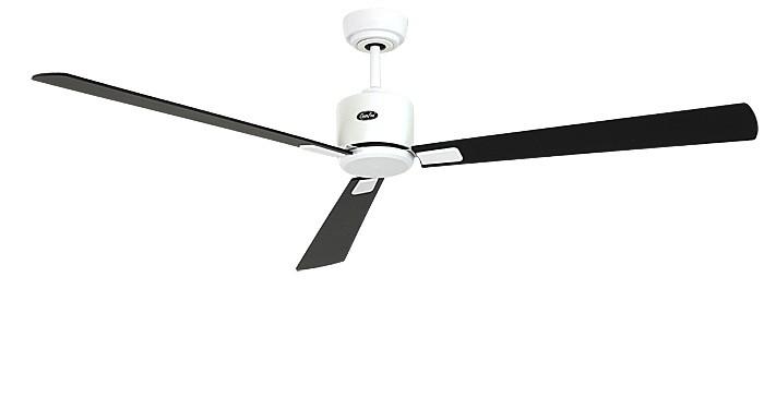 ventilateur de plafond basse consommation eco neo ii 152 cm blanc p les noir teck. Black Bedroom Furniture Sets. Home Design Ideas