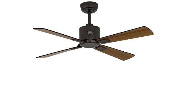 ventilateur de plafond basse consommation eco neo ii 103 cm marron antique p les noir teck. Black Bedroom Furniture Sets. Home Design Ideas