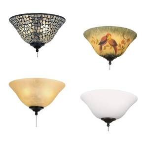Glass bowl Lamp shade for Fanimation Ceiling Fans
