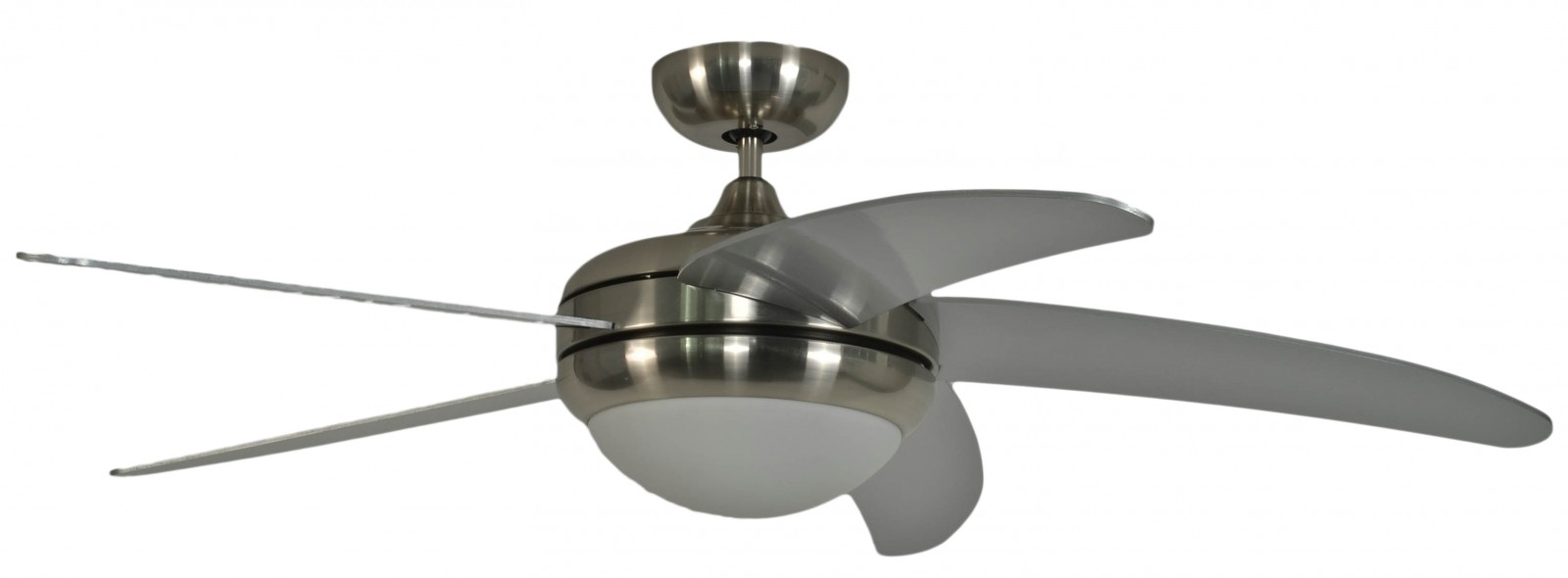 Ceiling Fan Makkura Chrome Brushed Silver Blades With Remote Wiring Hunter Light And Control