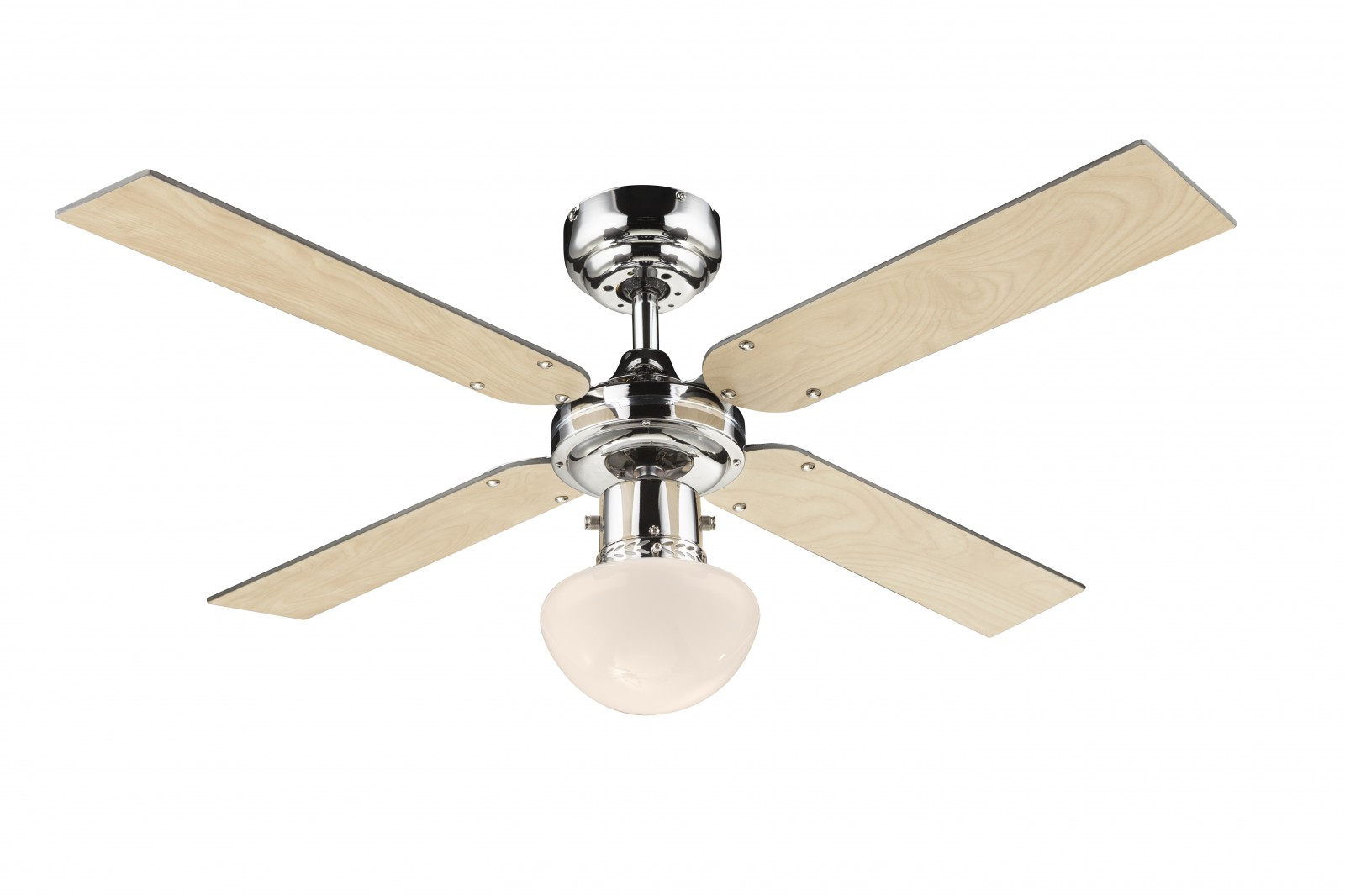 Ceiling Fans With Electrical Cords : Globo ceiling fan champion chrome cm quot blades