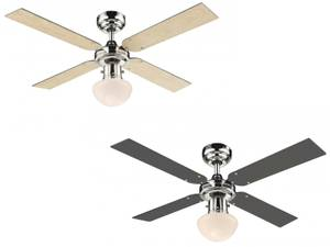 Ceiling fan Champion Chrome S with light 105cm / 42""